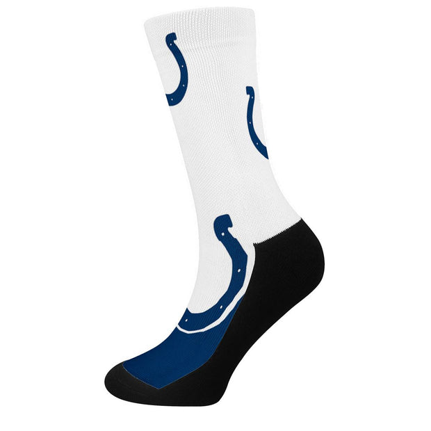 Indianapolis Colts For Bare Feet Crew Socks - diNeiLa