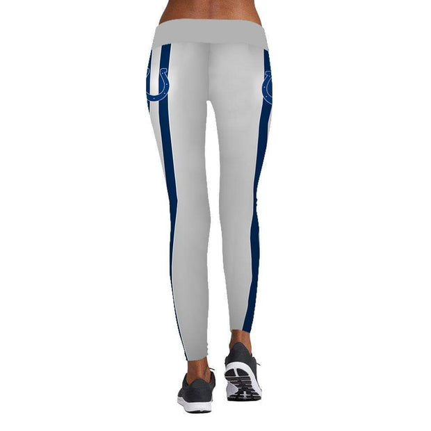 Indianapolis Colts Printed Yoga Fitness Leggings - diNeiLa
