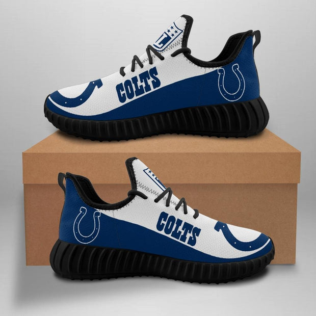 Indianapolis Colts Sneakers Big Logo Yeezy Shoes - diNeiLa