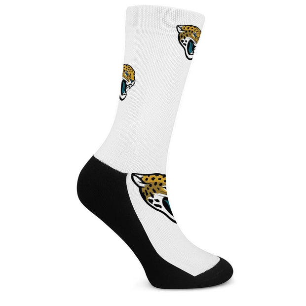 Jacksonville Jaguars For Bare Feet Crew Socks - diNeiLa