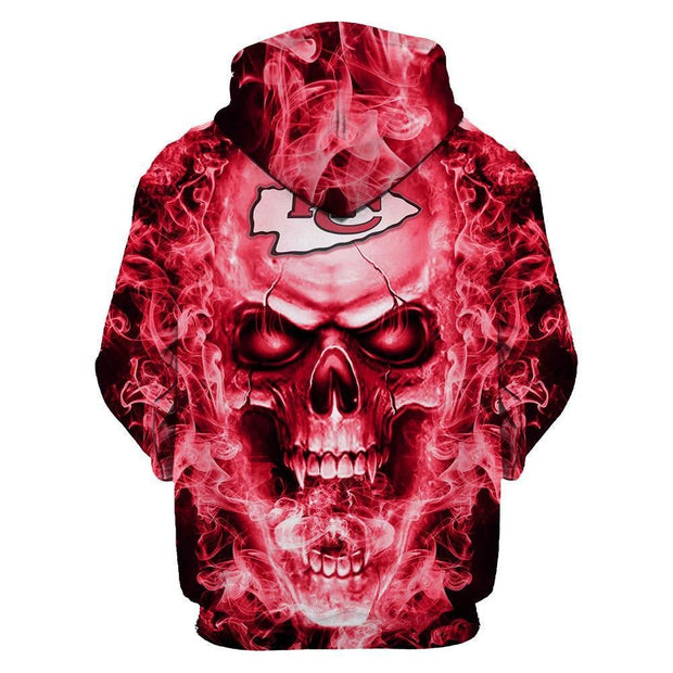 Kansas City Chiefs 3D Printed Hooded Pocket Pullover KC Hoodie - diNeiLa