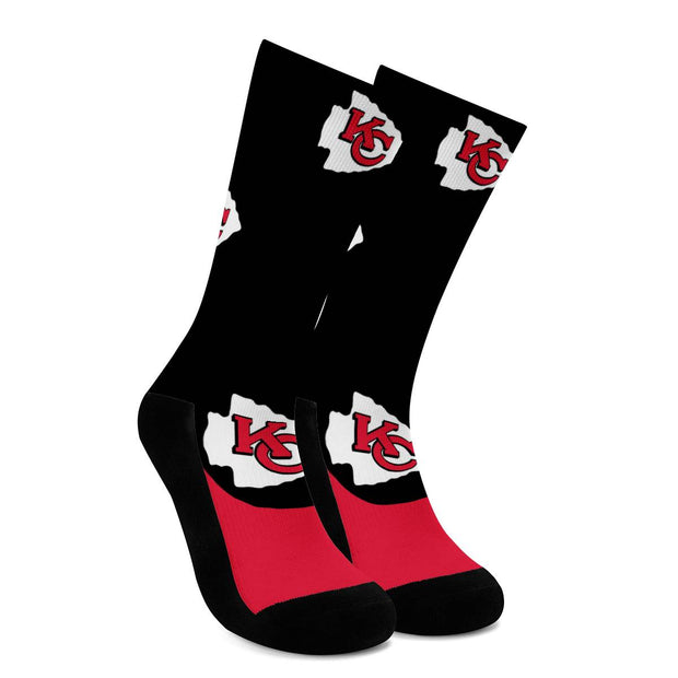 Kansas City Chiefs For Bare Feet Crew Socks - diNeiLa