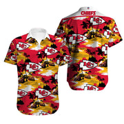 Kansas City Chiefs Hawaiian Shirt Slim Fit Body - diNeiLa