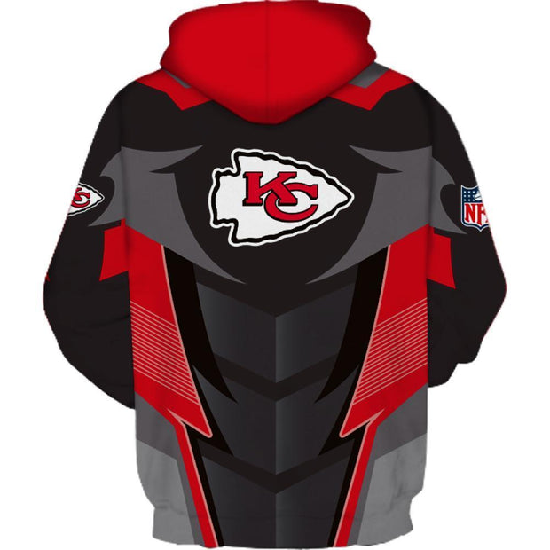 KC Kansas City Chiefs 3D Printed Hooded Pocket Pullover Hoodie - diNeiLa