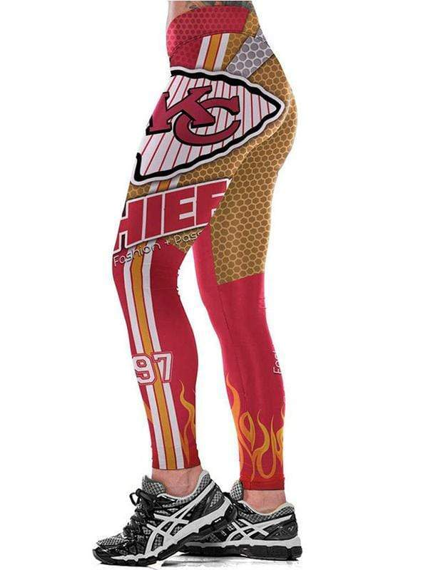 KC Kansas City Chiefs 3D printed tight-fitting stretch pants - diNeiLa