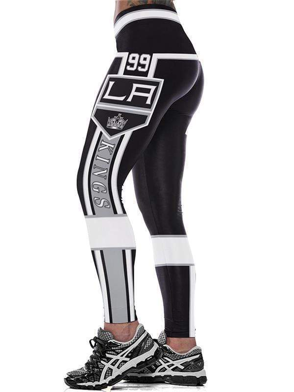 LA KINGS 3D Printed Yoga Fitness Leggings - diNeiLa