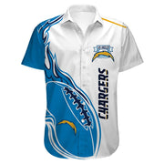Los Angeles Chargers Hawaiian Shirt Slim Fit Body - diNeiLa
