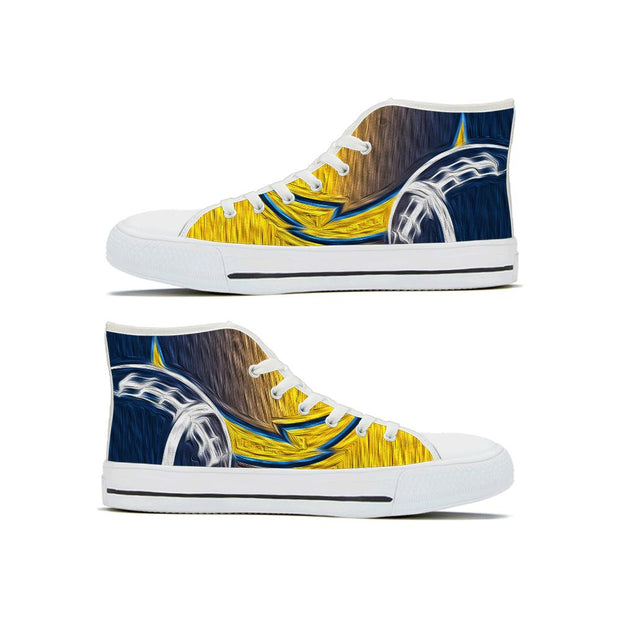 Los Angeles Chargers High Top Shoes - diNeiLa