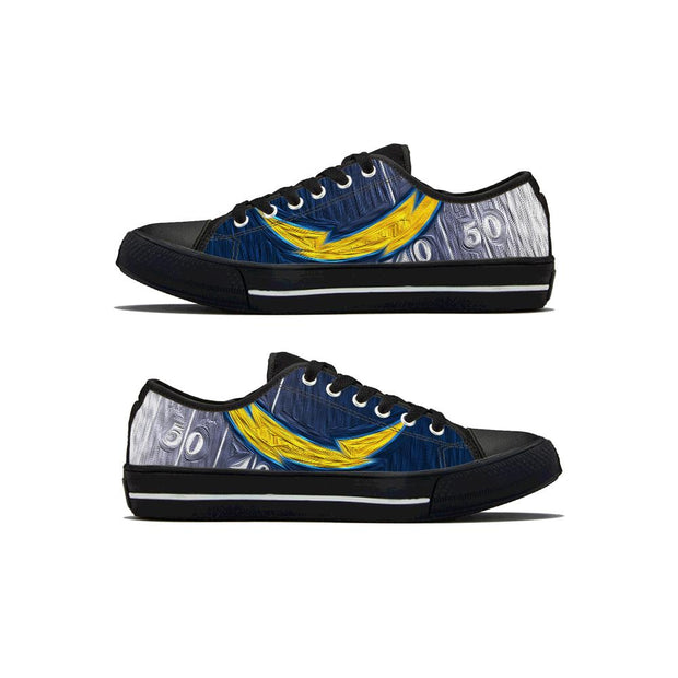 Los Angeles Chargers Low Top Shoes - diNeiLa