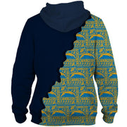 Los Angeles Chargers Printed Hooded Pocket Sweate - diNeiLa