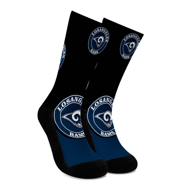 Los Angeles Rams For Bare Feet Crew Socks - diNeiLa