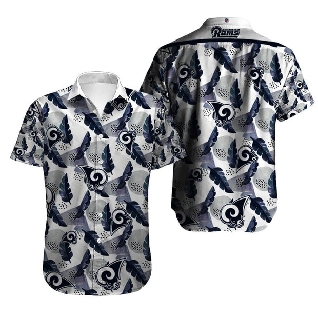 Los Angeles Rams Hawaiian Shirt Slim Fit Body - diNeiLa