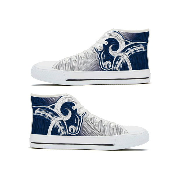Los Angeles Rams High Top Shoes - diNeiLa