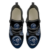 Los Angeles Rams Sneakers Big Logo Yeezy Shoes - diNeiLa