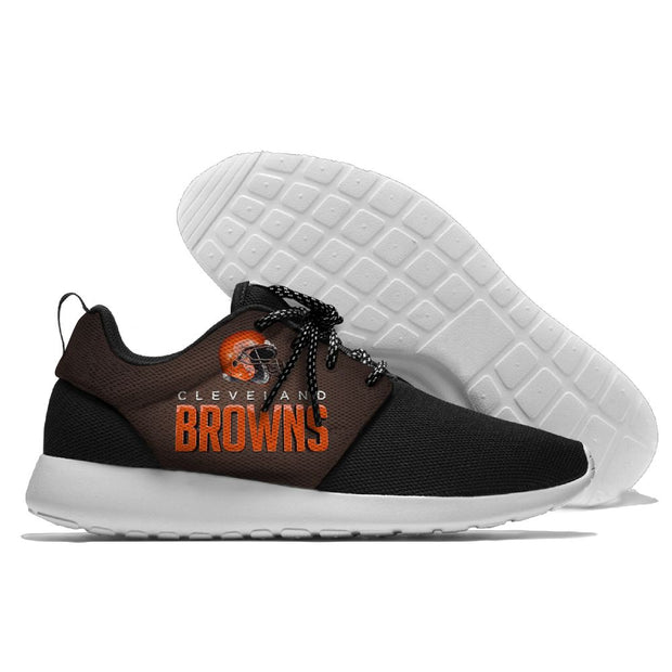 Men and women NFL Cleveland Browns Roshe style Lightweight Running shoes - diNeiLa
