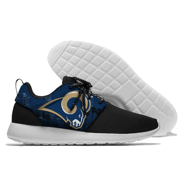 Men and women NFL Los Angeles Rams Roshe style Lightweight Running shoes - diNeiLa