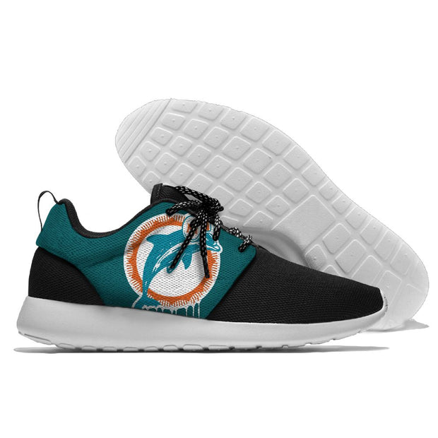Men and women NFL Miami Dolphins Roshe style Lightweight Running shoes - diNeiLa
