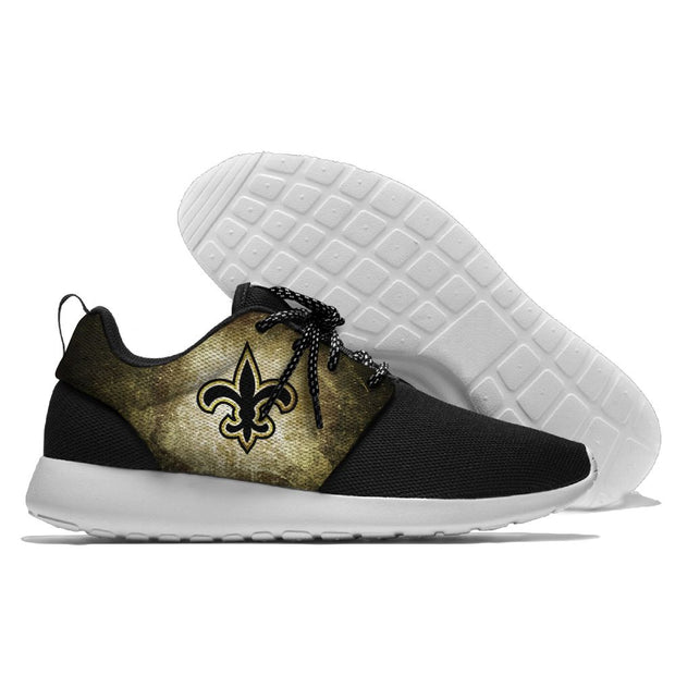 Men and women NFL New Orleans Saints Roshe style Lightweight Running shoes - diNeiLa