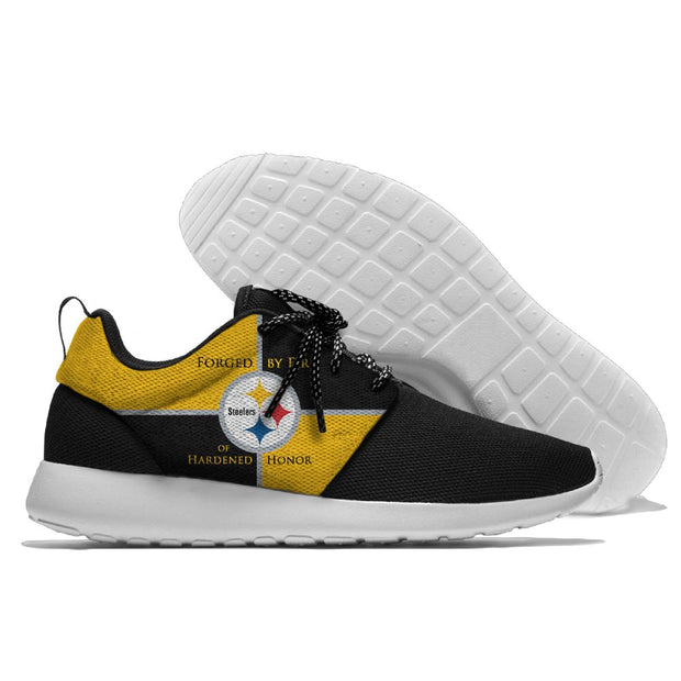 Men and women NFL Pittsburgh Steelers Roshe style Lightweight Running shoes - diNeiLa