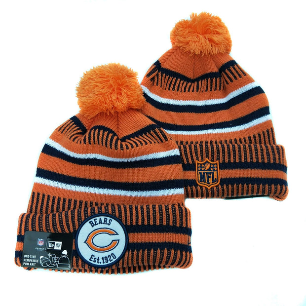Men and women NFL wool hat Chicago Bears sports warm knitted hat - diNeiLa