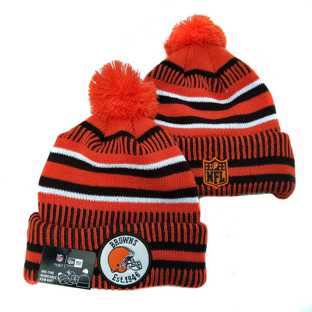 Men and women NFL wool hat Cleveland Browns sports warm knitted hat - diNeiLa