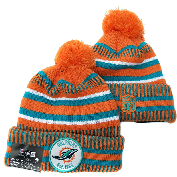 Men and women NFL wool hat Miami Dolphins sports warm knitted hat - diNeiLa