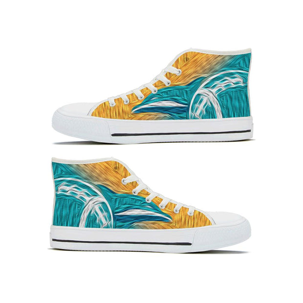 Miami Dolphins High Top Shoes - diNeiLa