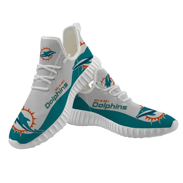 Miami Dolphins Sneakers Big Logo Yeezy Shoes - diNeiLa