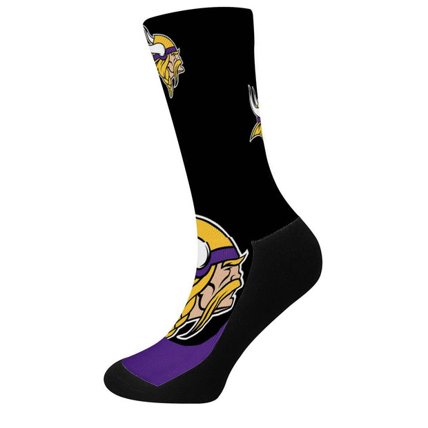 Minnesota Vikings For Bare Feet Crew Socks - diNeiLa