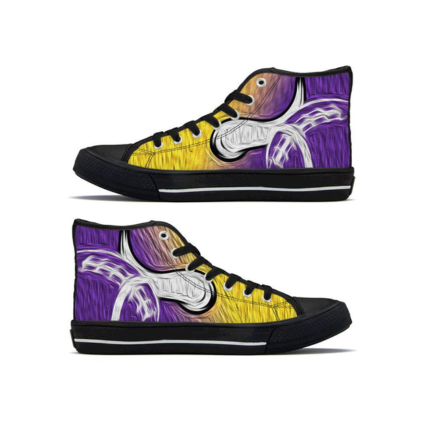 Minnesota Vikings High Top Shoes - diNeiLa