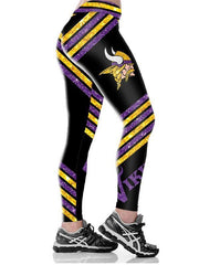 Minnesota Vikings Printed Yoga Fitness Leggings - diNeiLa