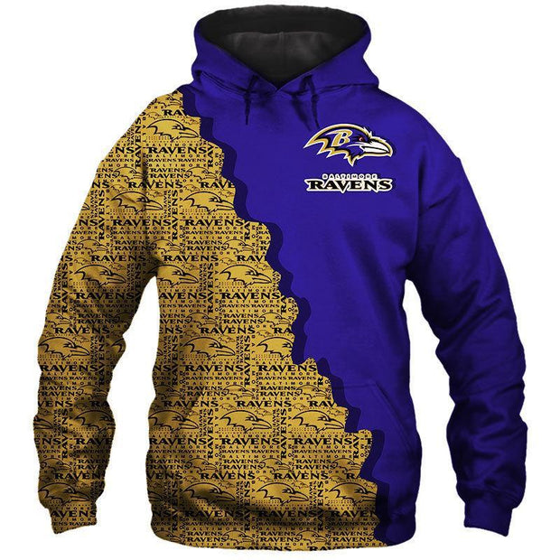 New Baltimore Ravens 3D Printed Hoodie - diNeiLa