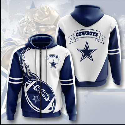 New Dallas Cowboys 3D Printed Zipper Hoodie - Douin