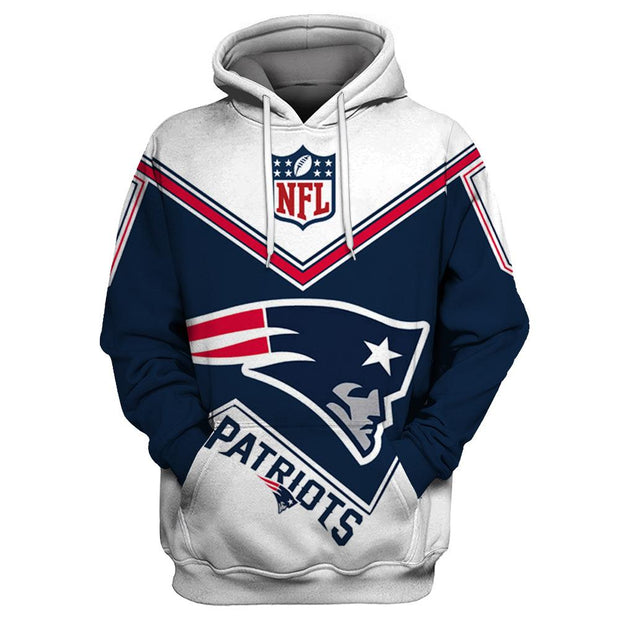 New England Patriots 3D Printed Hooded Pocket Pullover Hoodie - diNeiLa