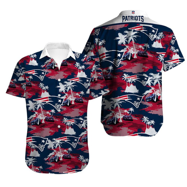 New England Patriots Hawaiian Shirt Slim Fit Body - diNeiLa
