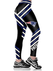 New England Patriots Printed Yoga Fitness Leggings - diNeiLa