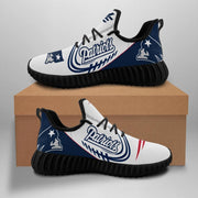 New England Patriots Sneakers Big Logo Yeezy Shoes - diNeiLa