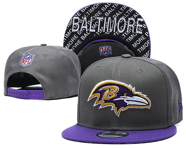 New Era Baltimore Ravens 2019 NFL Sideline Road Official Fited Hat - diNeiLa
