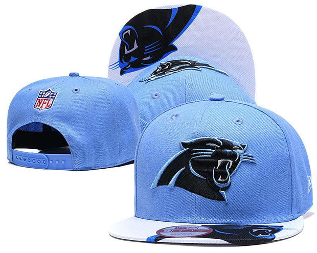 New Era Carolina Panthers 2019 NFL Sideline Road Official Fited Hat - diNeiLa