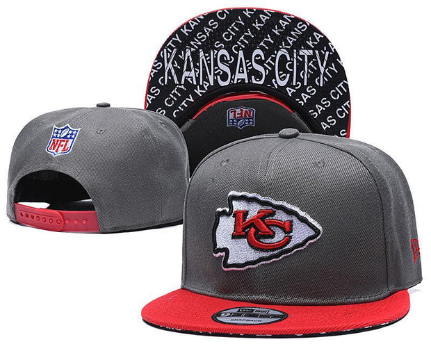 New Era KC Kansas City Chiefs 2019 NFL Sideline Road Official Fited Hat - diNeiLa