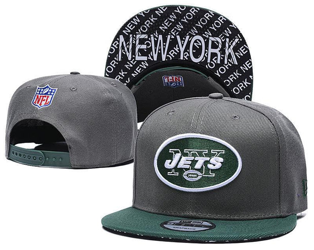 New Era New York Jets 2019 NFL Sideline Road Official Fited Hat - diNeiLa