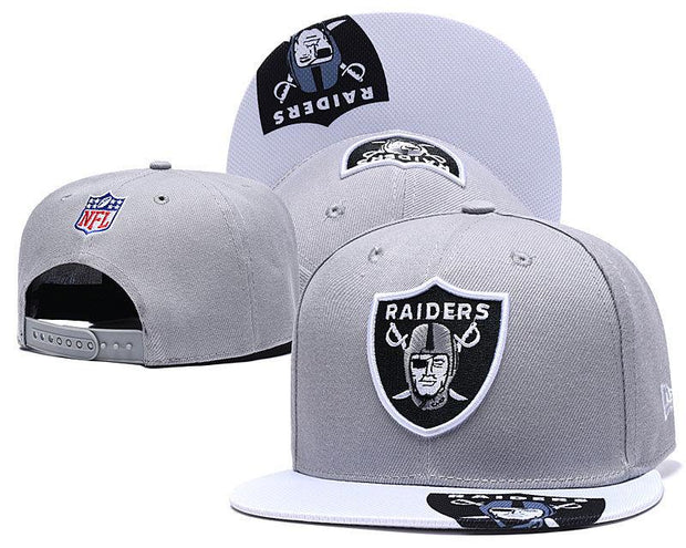 New Era Oakland Raiders 2019 NFL Sideline Road Official Fited Hat - diNeiLa