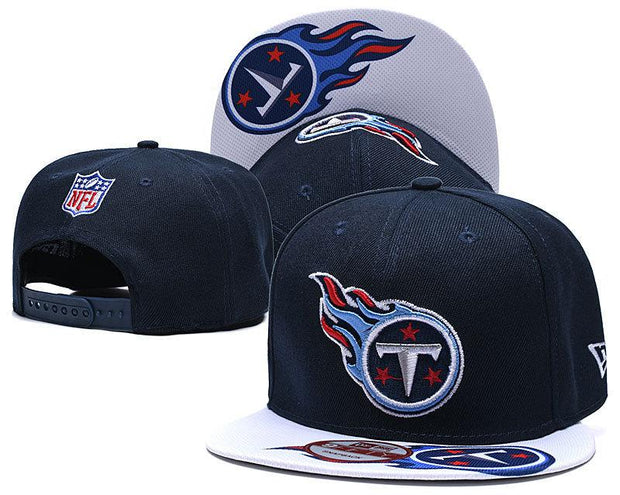 New Era Tennessee Titans 2019 NFL Sideline Road Official Fited Hat - diNeiLa