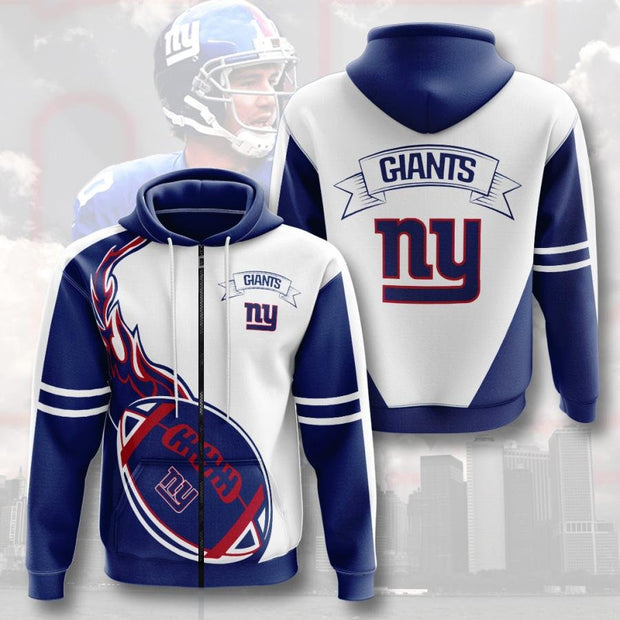 New New York Giants 3D Printed Zipper Hoodie - Douin