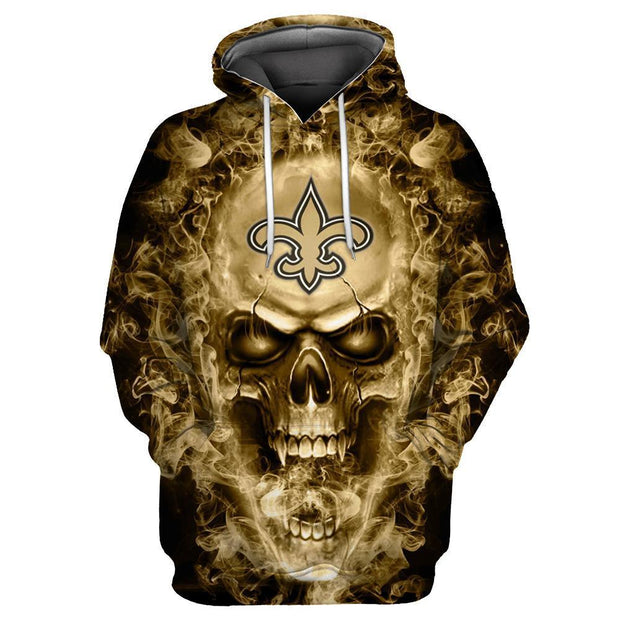 New Orleans Saints 3D Printed Hooded Pocket Pullover Hoodie - diNeiLa