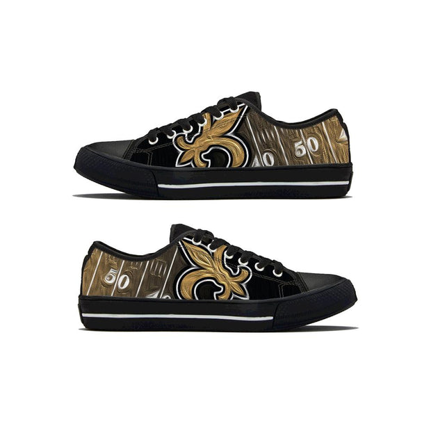 New Orleans Saints Low Top Shoes - diNeiLa