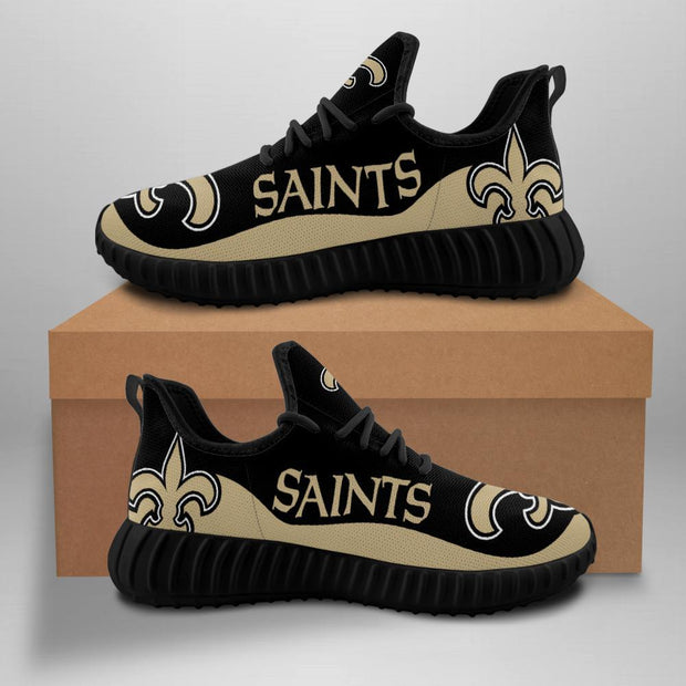 New Orleans Saints Sneakers Big Logo Yeezy Shoes - diNeiLa
