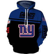 New York Giants 3D Printed Hooded Pocket Pullover Hoodie - diNeiLa