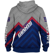 New York Giants 3D Printed Zipper Hoodie - Douin