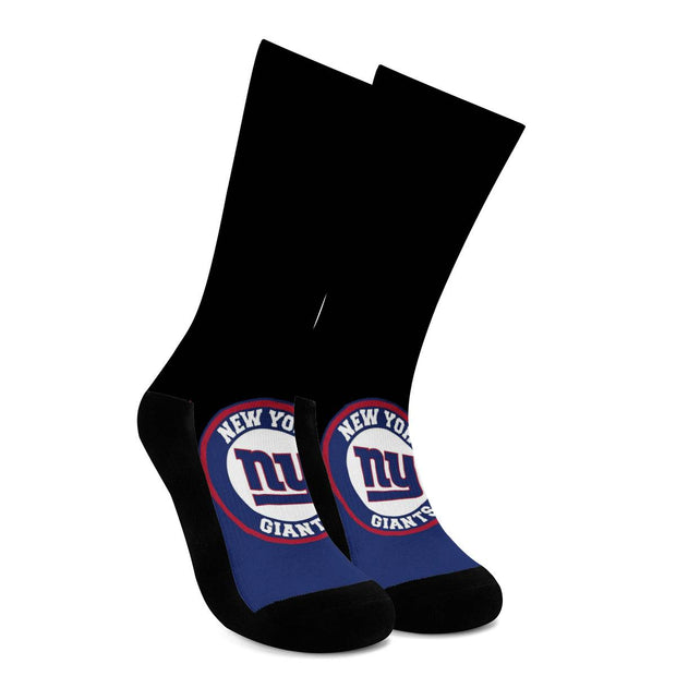 New York Giants For Bare Feet Crew Socks - diNeiLa